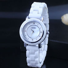 Exclusiva Nueva Señora De Cerámica Reloj de Diamantes Relojes de Pulsera de Cuarzo Simple Manera de Las Mujeres Reloj de Los Estudiantes de Ocio Reloj de Pulsera Relogio