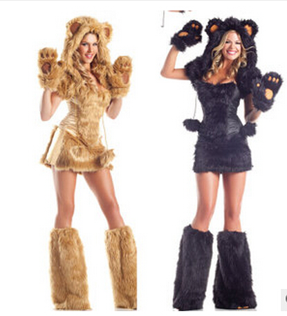 Free Halloween Costumes 31 days of living well spending zero free halloween costumes day Free Shipping Halloween Costume Sexy Lion Plush Animal Pack Game Uniform Temptation Suit Halloween Cosplay Costumes