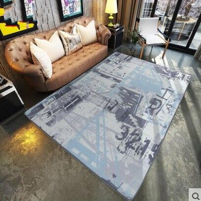 Big Living Room Carpet Oil Painting Rug Modern Abstract Brief Living Enchanting Living Room Carpets Rugs Painting