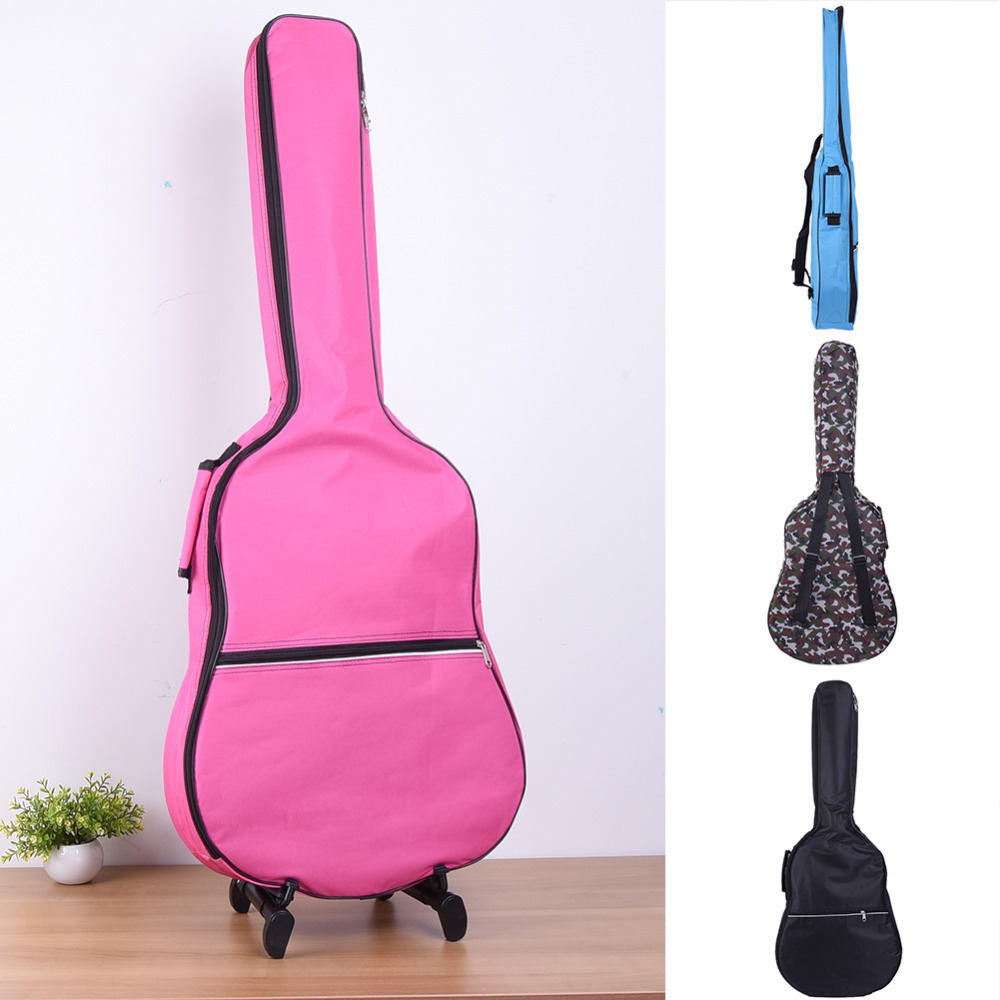 39-41 inch Guitar Bag Guitar Backpack Simple Style Guitar Bag Shoulder Plus Cotton Waterproof Use 600D Oxford Cloth (OPP bag) 12mm waterproof soprano concert ukulele bag case backpack 23 24 26 inch ukelele beige mini guitar accessories gig pu leather
