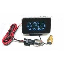 Универсальный 3 функции 12 В/24 В Автомобильный манометр масла+ вольтметр датчик напряжения+ Датчик температуры воды