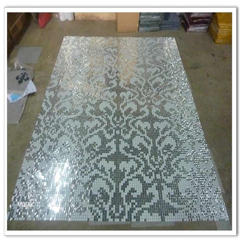 Us 39 0 Customized Shiny Silver Erfly Puzzle Art Gl Mosaic Tile Wardrobe Cabinet Fireplace Wall Decor In Wallpapers From Home