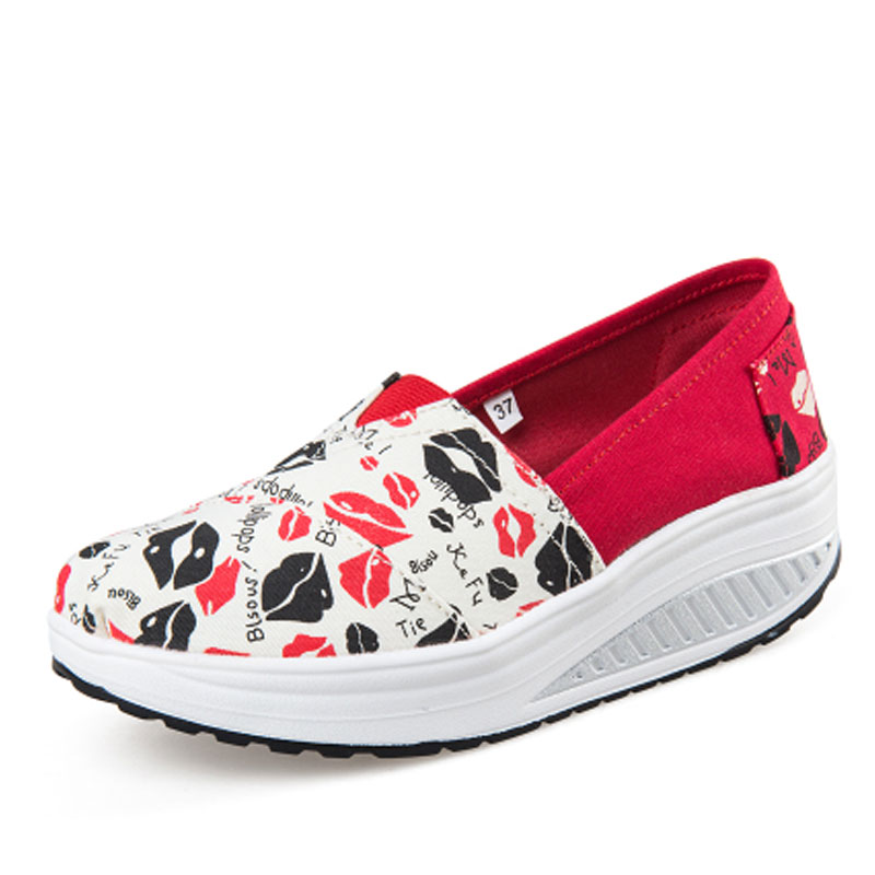 Canvas shoes new spring and summer female shoes low thick soled shoes