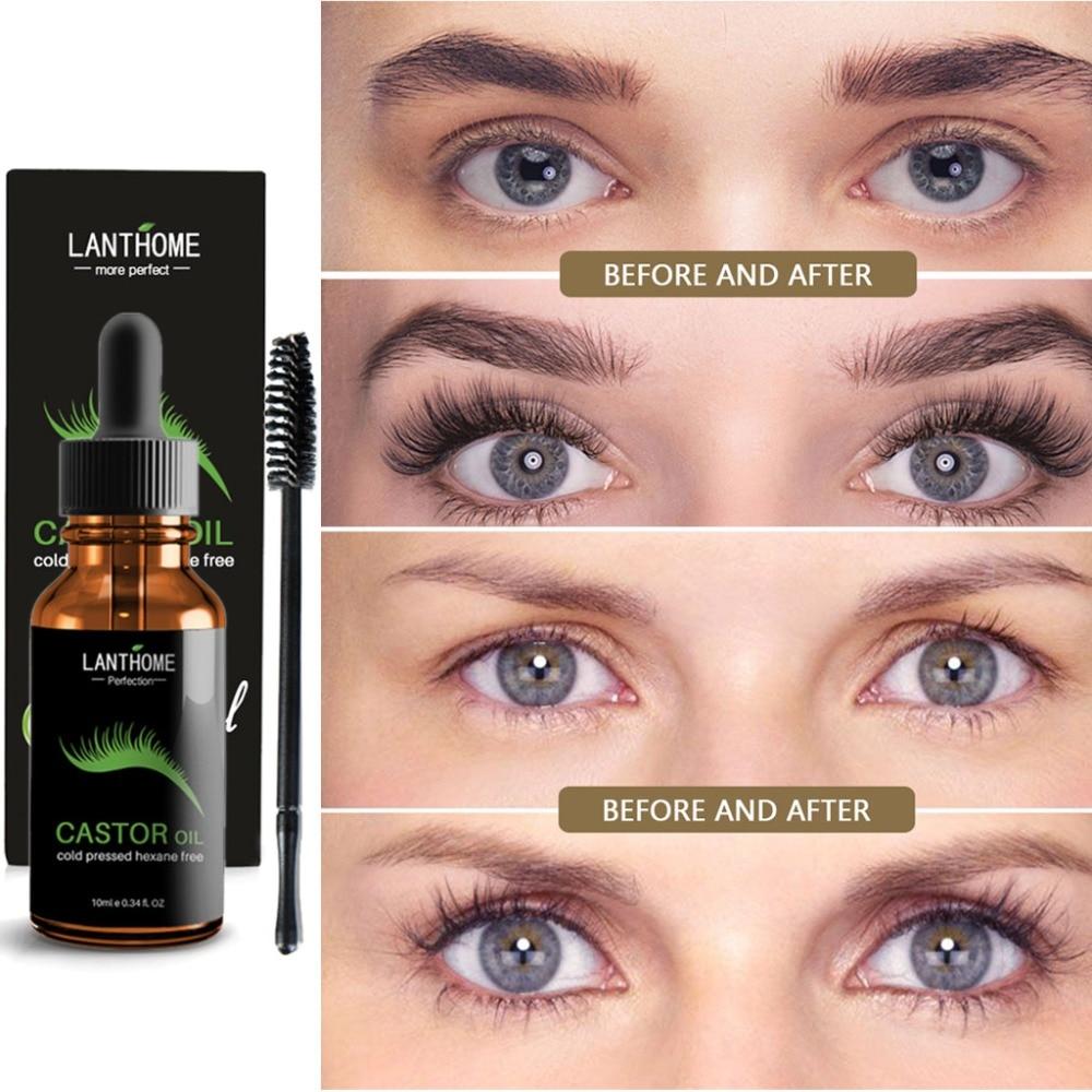 Castor Oil Eyelashes Eyebrow Enhancer Boost Growth Serum Essential