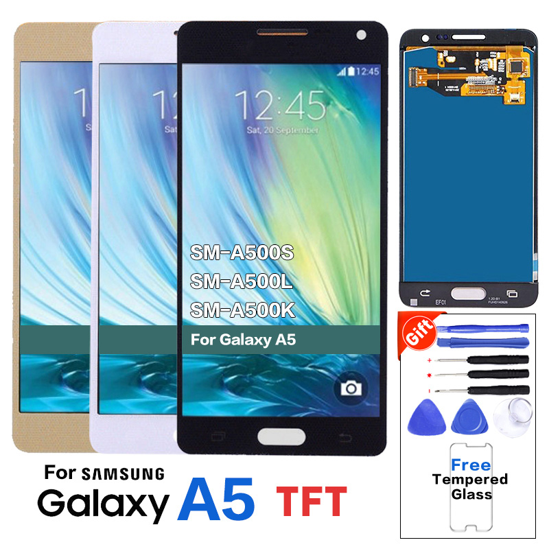 TFT LCD Display Assembly for Samsung Galaxy A5 2015 A500 A500F A500FU A500M A500Y A500FQ Replacement LCD Screen 100% TestedTFT LCD Display Assembly for Samsung Galaxy A5 2015 A500 A500F A500FU A500M A500Y A500FQ Replacement LCD Screen 100% Tested