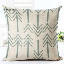 Geometric Pillowcase Moden  Cotton Linen Printed Size 40*40 Home Deacrative Throw Pillows Cojines