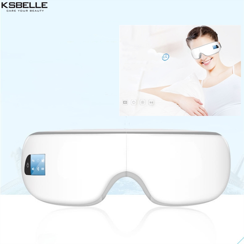 Portable Eye Relax Eye Mask Eyes Massager with Heat Compression Air Pressure Vibration for Eye Bags Dark Circles crow feet free shipping new air pressure eye massager with mp3 6 functions dispel eye bags eye magnetic far infrared heating eye care