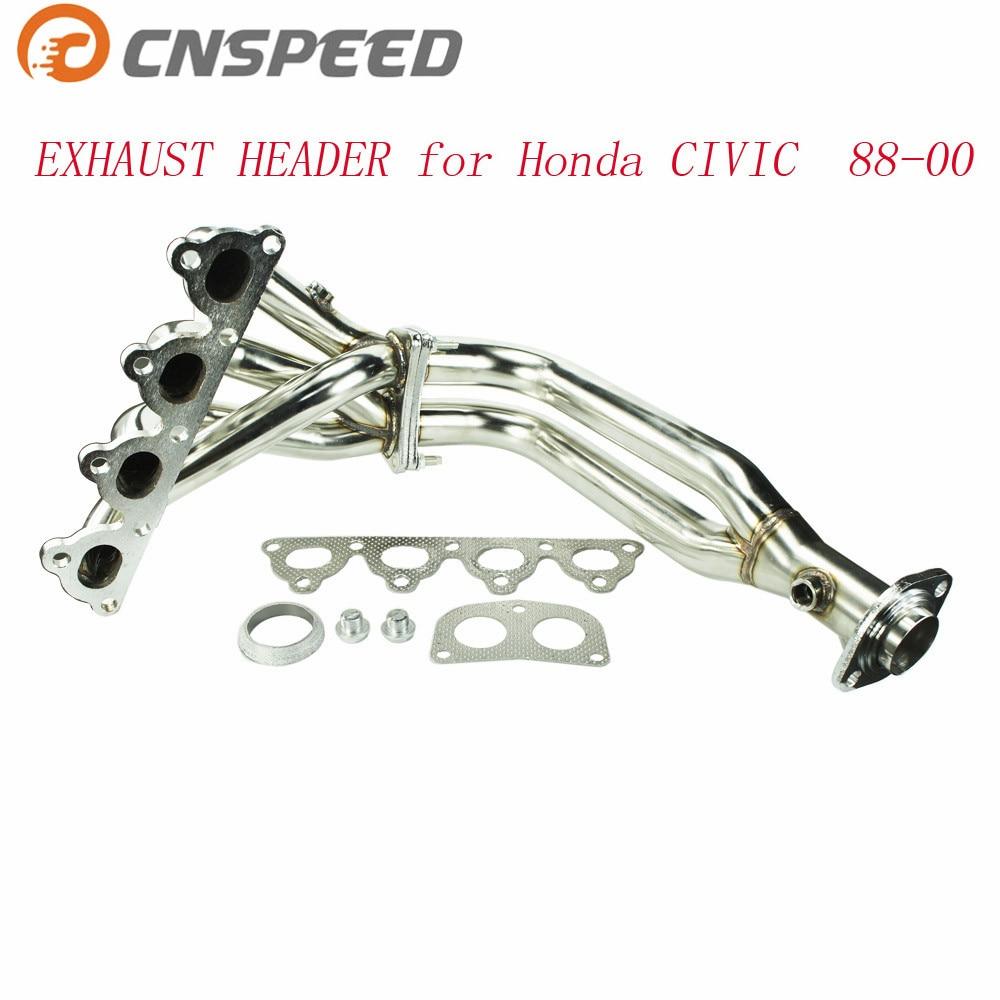 CNSPEED kolektor wydechowy ze stali nierdzewnej kolektor wydechowy dla HONDA CIVIC 88-00 EG EF EK EM głowica wydechowac100753