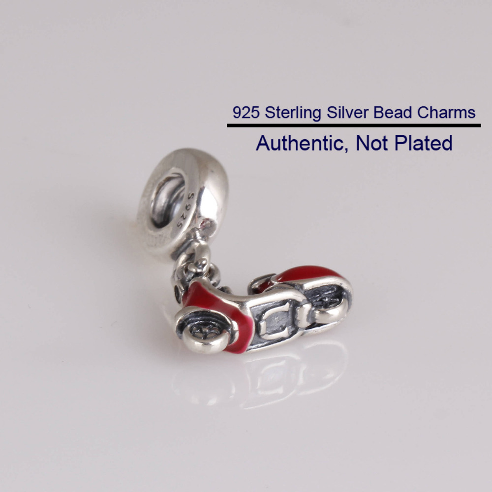 ca56ba5a4 Fits For Pandora Bracelets Red Scooter Charms 100% 925 Sterling Silver  Beads Free Shipping-in Beads from Jewelry & Accessories on Aliexpress.com |  Alibaba ...
