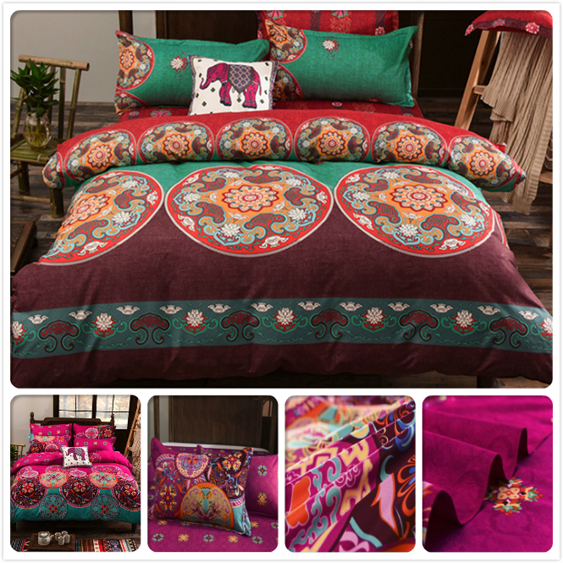 Luxury Top Quality Europe American Classic Flower Print Duvet Cover Pillowcase 2/3/4 pcs Bedding Set Bed Linen 1.5m 1.8m 2m 2.3m