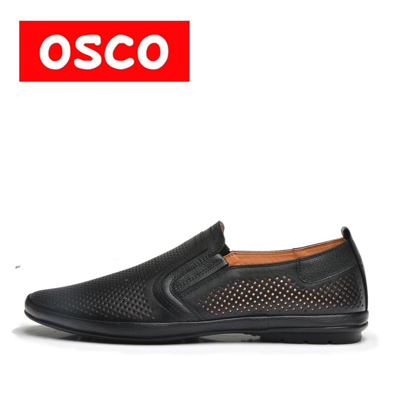 OSCO tavaszi és nyári új férfiak cipő divat férfi alkalmi loafers lélegző cipő csúszás # RU0024