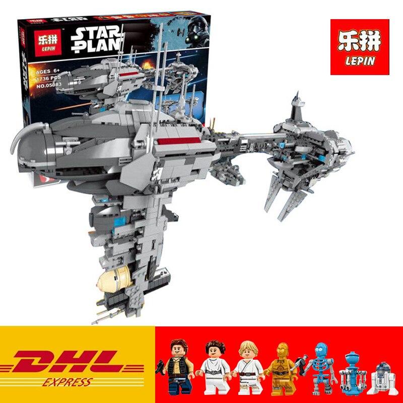 Lepin 05083 05037 Star Series War MOC The Nebulon Model B Medical Frigate Toy UCS I Slave NO.1 Building Blocks Bricks Gift 75060