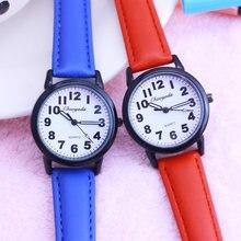 Часы chaoyada Детские кварцевые с кожаным ремешком крутые подарки