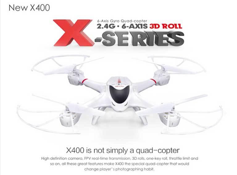 MJX R/C X400-V2 C4005  WiFi Real Time Video 2.4G 4ch 6 Axis with 0.3MP Wide Angle FPV Camera RC Quadcopter RTF радиоуправляемый инверторный квадрокоптер mjx x904 rtf 2 4g x904 mjx