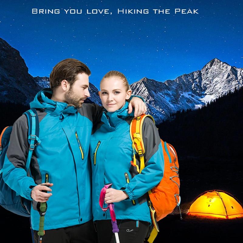 Amovible deux pièces hommes Softshell veste Windstopper imperméable randonnée vestes extérieur épais hiver manteaux Trekking Camping Ski