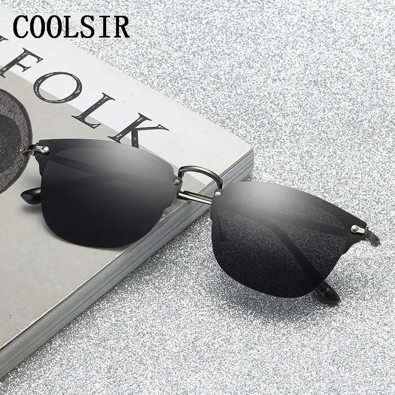 Ingyenes Shpping új divat félkeretes napszemüveg Retro polarizált - Ruházati kiegészítők