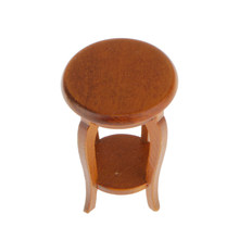 1:12 Scale Walnut 53mm Tall Stool Dolls House Miniature Furniture Accessory Dolls House Stool Mini Walnut Wood Stool Accessory(China)