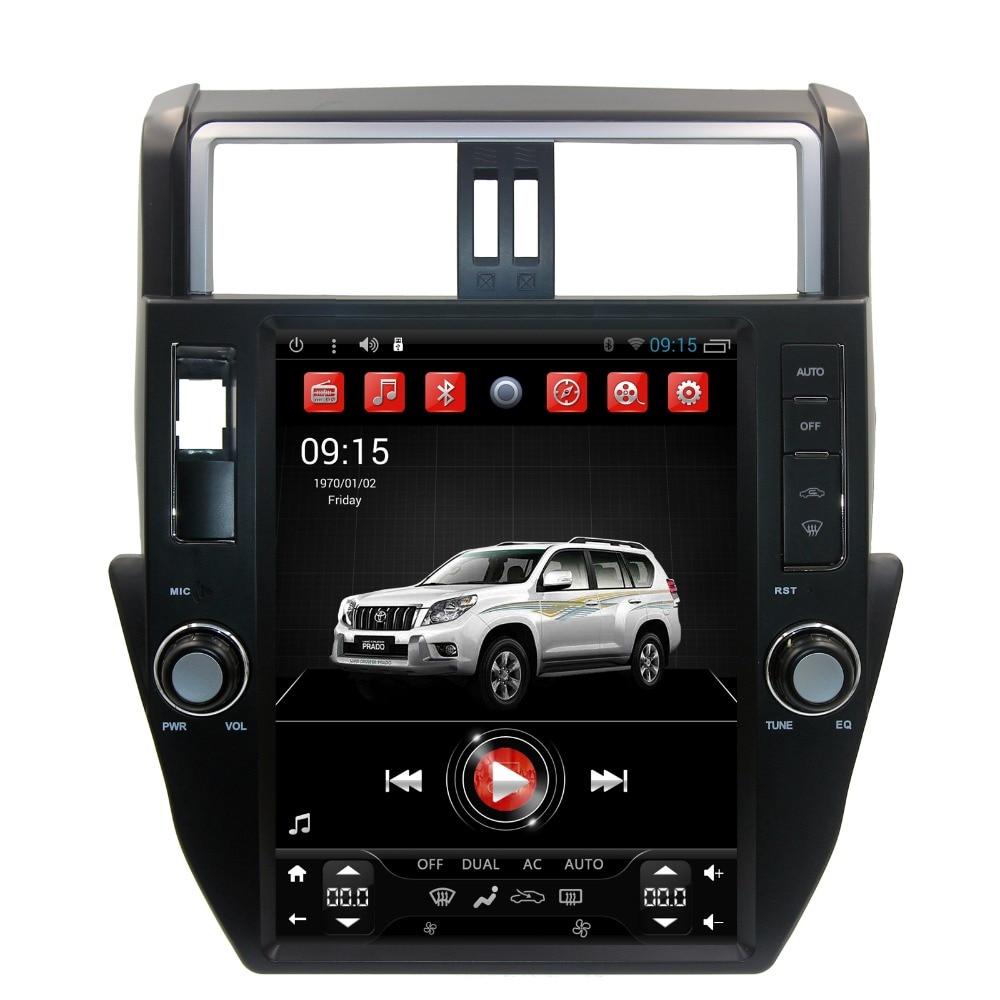 12.1 pouce Vertical Tesla style Android 6.0 Voiture DVD GPS pour Toyota Land Cruiser Prado 150 2010-2013 Autoradio GPS De Voiture Unité de Tête
