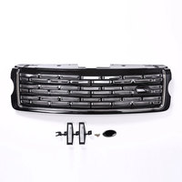 For Landrover Range Rover Vogue 2013 2017 Silver Black Main Body Kit Car Front Grille Trim Auto Replacement Exterior Parts