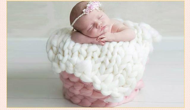 Cobertor grosso. Cobertor do bebê foto prop. Black Friday sale! Puffy poderia cobertor! Grande malha, Laço grande