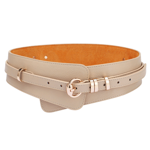 Image 1 - Brands Genuine Leather Cowskin Belts for Women Alloy Buckle Leather Buckle womens waist belt girdle crony bandwidth  cummerbund