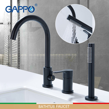 GAPPO bathtub faucets black bathroom shower faucet bath mixer shower wall waterfall shower system bathtub faucet недорого