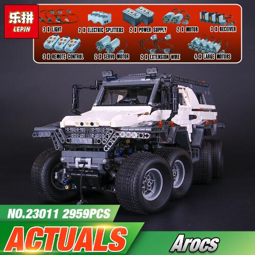2017 New LEPIN 23011 2959Pcs Technic Series Off road Vehicle Model Building Kits Block Brick Compatible Educational Boy Toy