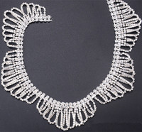 Rhinestone Chain Sew On Rhinestone Crystals And Stones Crystals Stone For Crafts Silver Pearl Belt Stones For Clothes Decoration