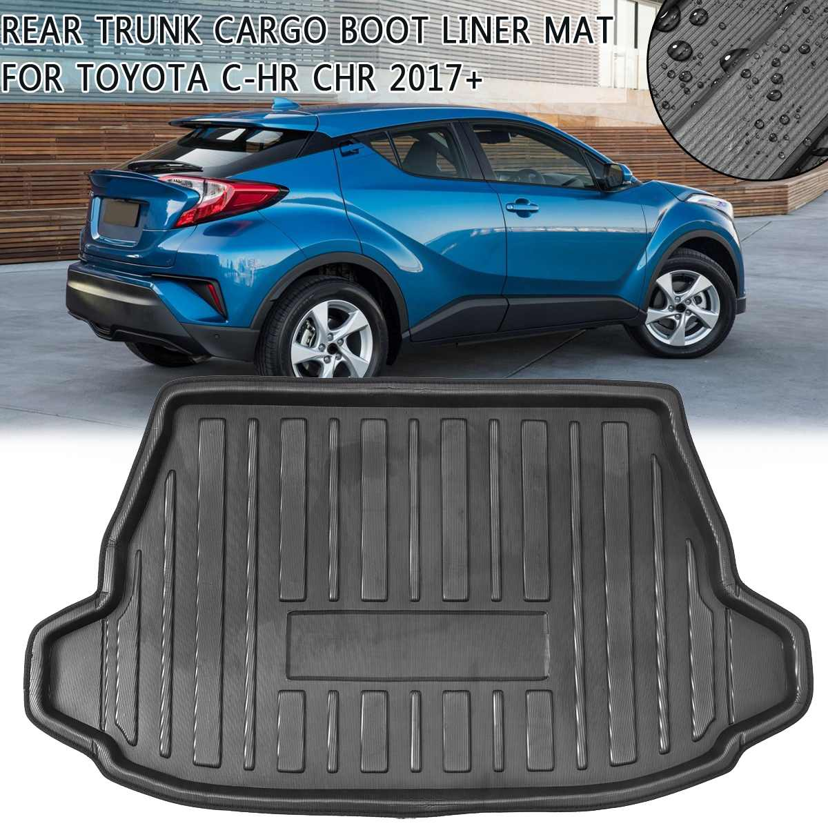 Boot Mat Rear Trunk Liner For Toyota C-HR CHR 2017 2018 2019+ Cargo Floor Tray Carpet Mud Pad Kick Guard Protector Waterproof