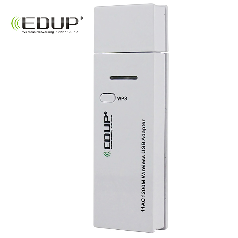 EDUP 5Ghz MiNi Wireless USB WiFi Adapter 1200Mbps Wi-Fi Receiver 802.11ac USB WiFi Network Card Support Windows Mac for PC адаптер usb edup 1532 300m usb usb wifi