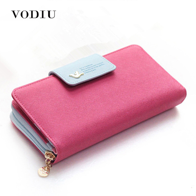 Large Capacity Women Long Slim Wallet Female Coin Purse Leather Zipper Clutch Lady Handbag Phone Card Photo Holder Wristlet цена