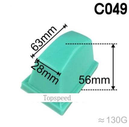 63x28mm cabeca almofada de borracha de silicone para tampografia maquina impressora da almofada base de madeira