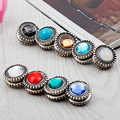 12pcs/lot Enhanced Version Vintage Round Muslim Brooch Women Magnetic Scarf Buckle Color Mix High Quality