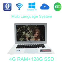 2017 14 inch Intel Celeron J1900 2.0GHz 4G ram 128G SSD windows 10 system fast running laptop built in camera for discounts