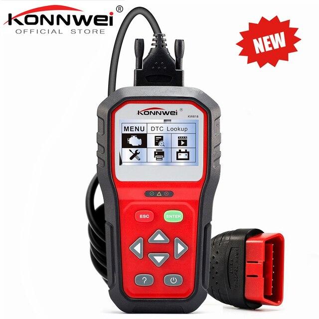 Professional OBD2 Scanner KW818 Code Readers Car OBDII Antomotive Vehicle Engine Diagnostic OBD/EOBD Function Scan Tool Check