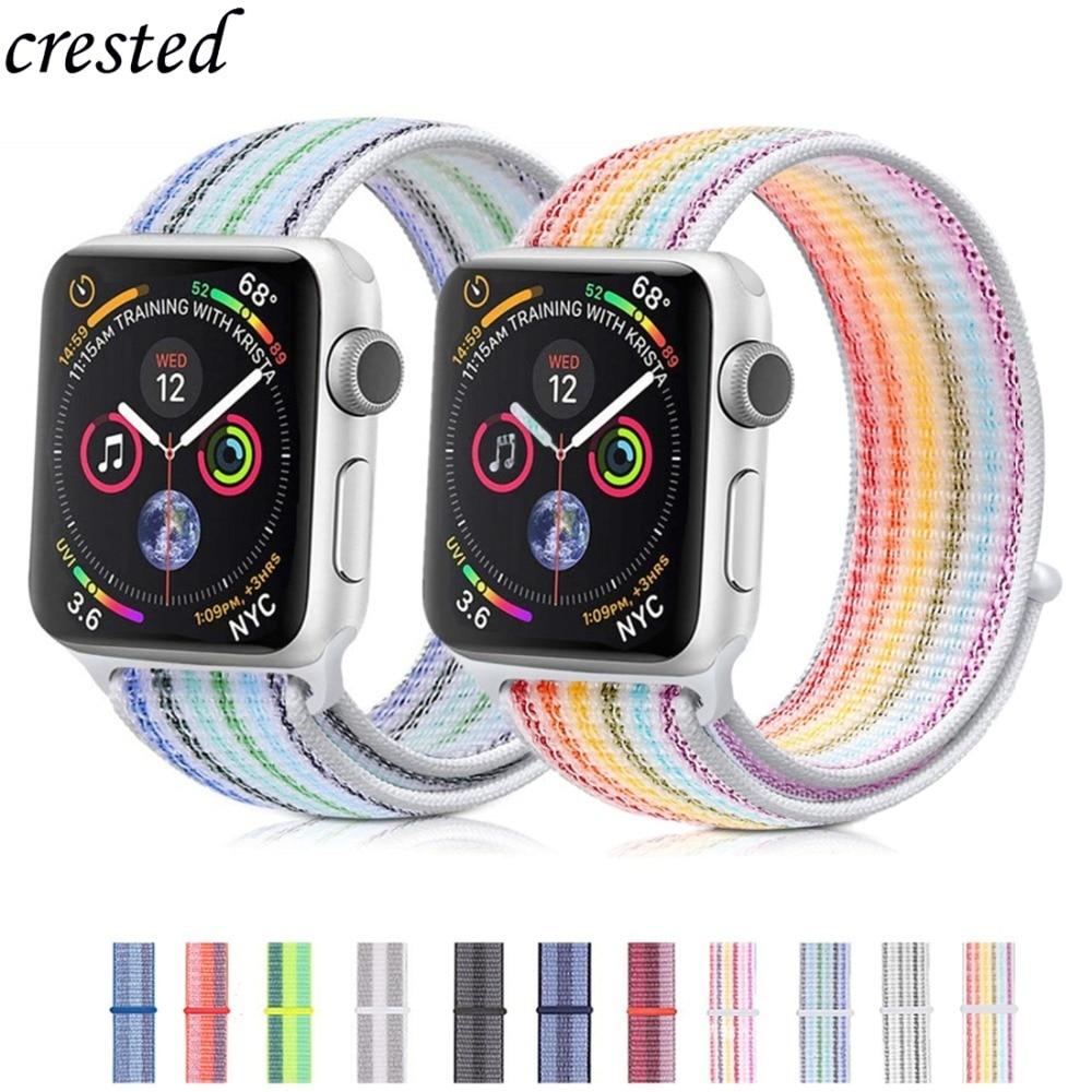 Nylon Strap For Apple Watch Band 38mm/42mm Iwatch 4 Band 44mm 40mm Sport Loop Watchband Bracelet Watch Strap Apple Watch 4 3 2 1