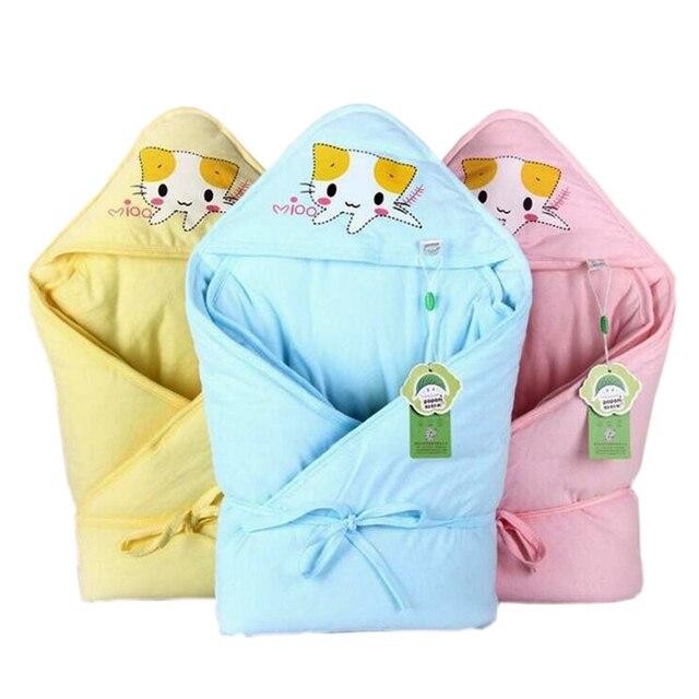 Lã de algodão do bebê Swaddle Envoltório Macio Cobertor Swaddle Envelopes para Recém-nascidos 0-9 Meses Do Bebê Unisex Saco de Dormir Infantil sleepsack