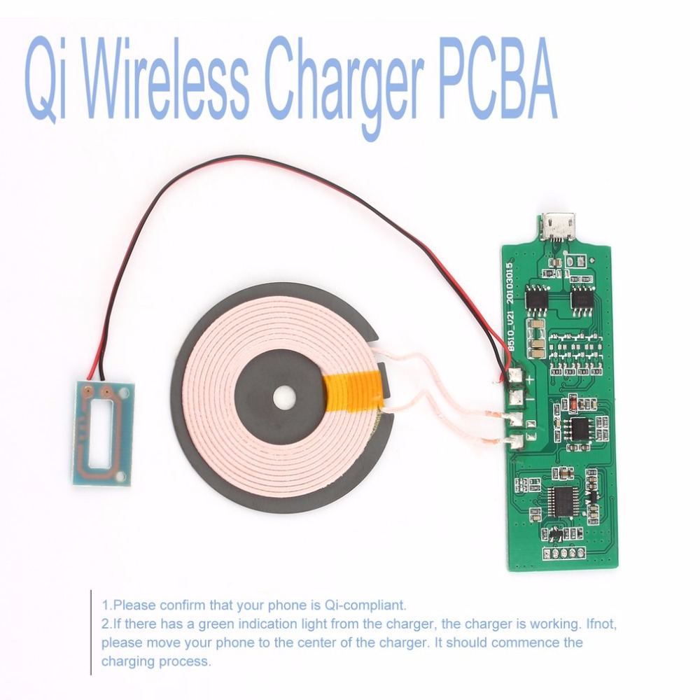 New Wireless Charging Accessories Qi Charger Pcba Circuit Cell Phone Pcb Boardmobile Board With Standard Coil Diy Uqip25 Newest