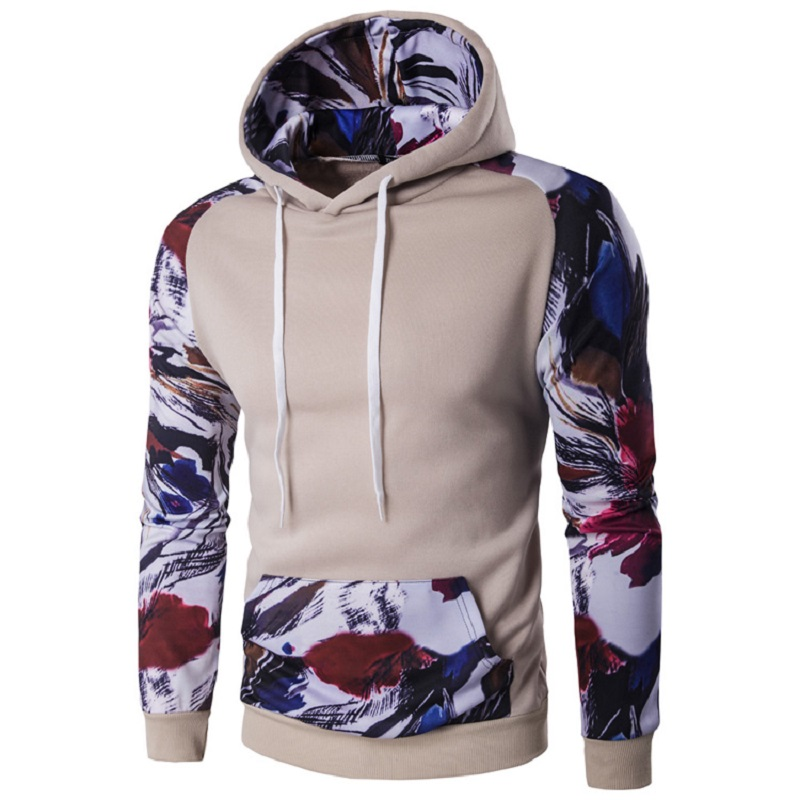 2016 Fleece Tracksuit Clothing 3D Floral Printed Pullover Hoodies Casual Sweatshirt Hooded Long Sleeves Jackets Autumn Coat XXL