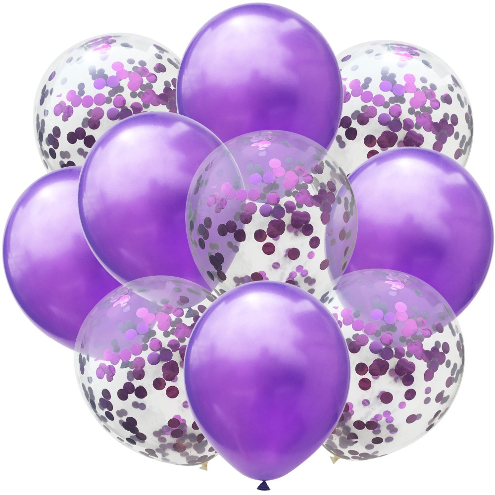 10pc 12inch Latex Colored Confetti Balloons And Birthday Party Decorations 5