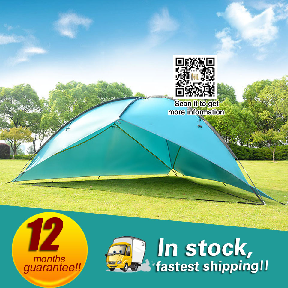 Sun Shelter UV With Poles Waterproof Awning Canopy Beach Tent Beach Shade Tarp цена