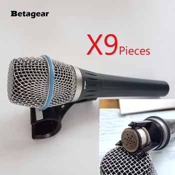 Betagear 9 Pieces Real Condenser Microfono BT87A 87 87A Cardioid Handheld Mic Condenser Microphone Supercardioid free shippping