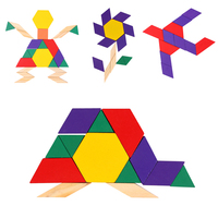 Tangram Jigsaw Wooden Geometric Puzzle Board Kids Montessori Educational Wooden Toys Puzzle Juguete Puzzles For Children 60D0023