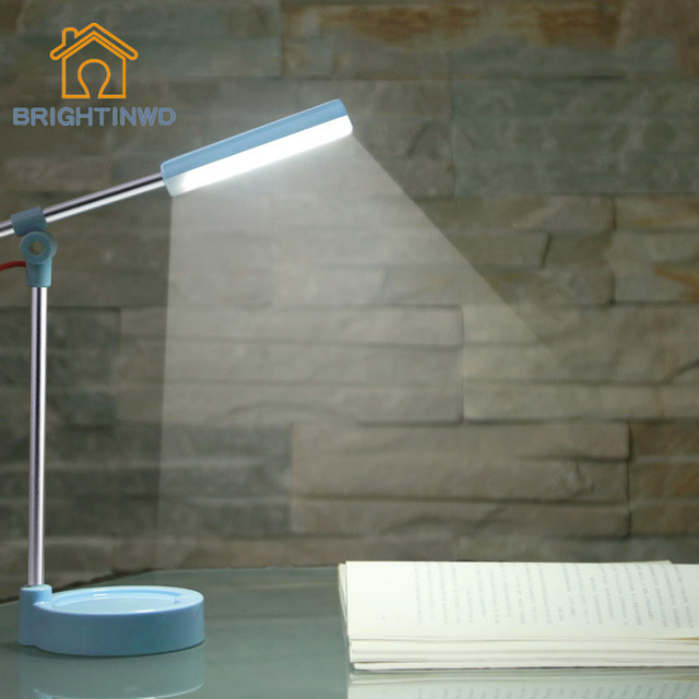 New Fashion Eye protection Desk Lamp Flexible LED Light Office Desk Lights USB Table Touch Lamp Led Reading study Dimmable Lamps