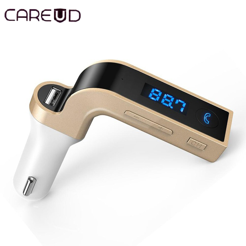 Car Accessories 4-in-1 Hands Free Wireless Bluetooth FM Transmitter G7 + AUX Modulator Car Kit MP3 Player SD USB LCD bt4823 bluetooth 4 1 edr hands free car kit with mic