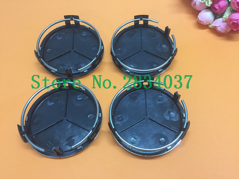 20pcs 75mm Black/silver Car Wheel Center Caps Hubcap Emblem Three-pointed Cover Rims Cap For A B C CLA CLS G M R S free shipping