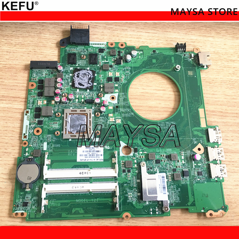 KEFU for HP Pavilion 15 15-P Series 778258-501 778258-601 778258-001 DAY21AMB6D0 A10-7300M Laptop Motherboard Mainboard Tested nokotion original 809985 601 809985 001 laptop motherboard for hp pavilion 15 p a10 7300m cpu day21amb6d0 full tested works
