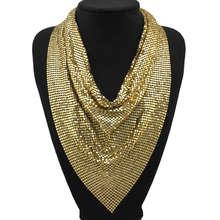 9e18c04be8e6 MANILAI joyería India brillante Metal Slice Collar gargantilla collares  para mujer Bohemia declaración Maxi collares CE4404