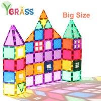 磁気ブロックおもちゃ子供の磁石平方ビルディングゲームデザイナーコンストラクタタイルレンガモデル教育玩具子供のため