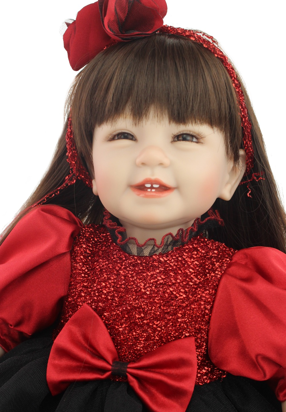 2015 nuevo diseño Venta caliente realista reborn todder girl doll al por mayor baby dolls moda muñeca regalo de Navidad-in Muñecas from Juguetes y pasatiempos    1